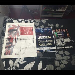 Bundle of band tour posters